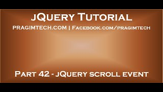 jQuery scroll event