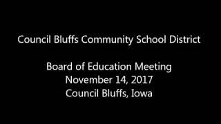 School Board Meeting November 14 2017