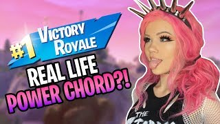 REAL LIFE POWER CHORD PLAYS FORTNITE?!.. | JUSTFOXII (EN)