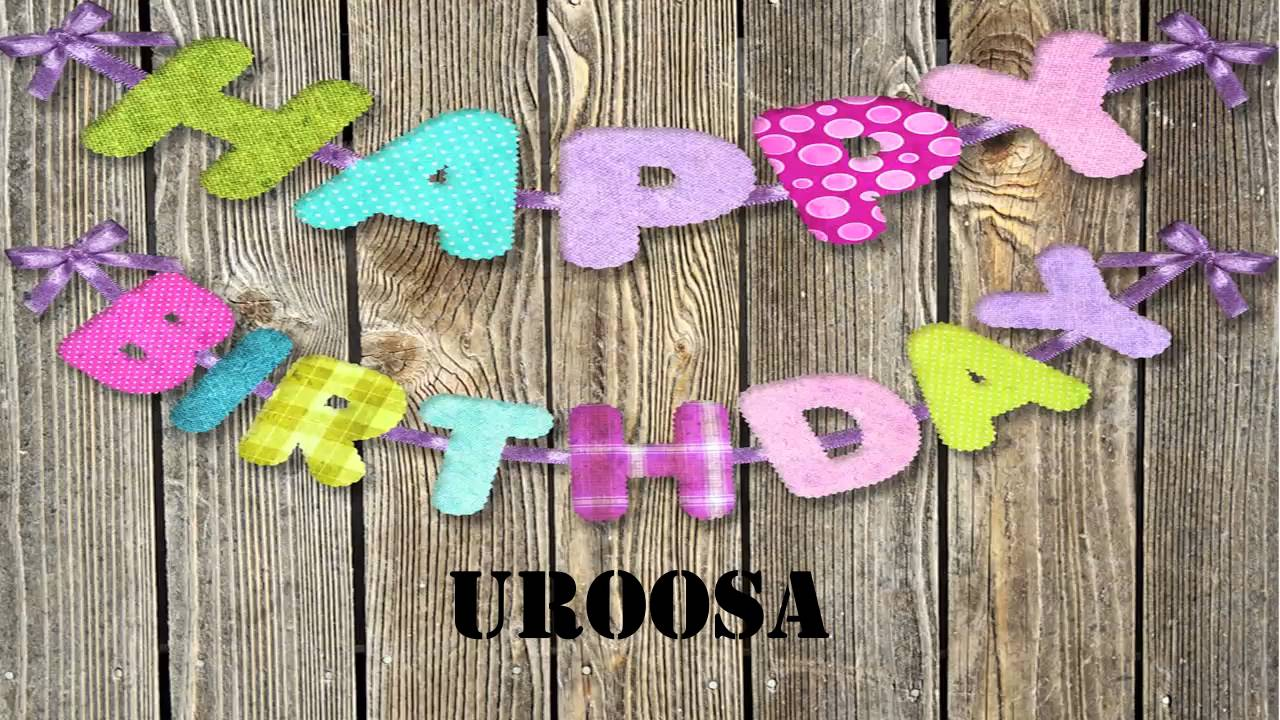 Birthday Cake With Name Uroosa ~ Uroosa wishes mensajes youtube