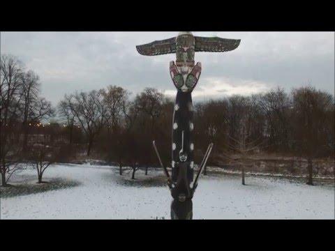 Lincoln Park, Chicago, Illinois. Haida tribe, and the Kwakiutl Influenced totem pole