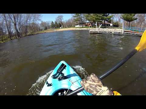 Kayak beach landing at the Disabled American Veterans Club Lake Springfield Springfield, Illinois