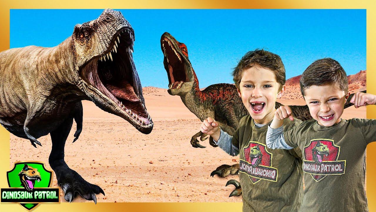Giant Dinosaurs Escape Dinosaur Park   50+ Minutes of Dinosaur Patrol Rescue Missions   Full Series