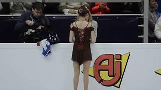 Этери Тутберидзе настраивает Евгению Медведеву. ПП. Чемпионат Европы 2018