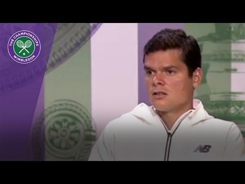 Milos Raonic Wimbledon 2017 first round press conference