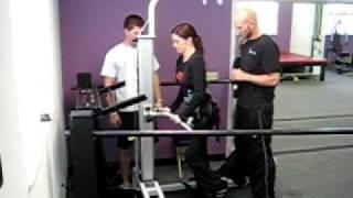Shannon Filbert On Treadmill No Harness Sci Step