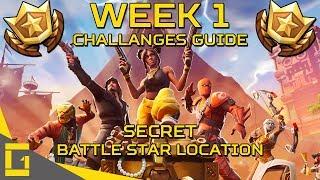 Fortnite | Season 8 Week 1 Challenges Guide | Plus SECRET Battle Star Location