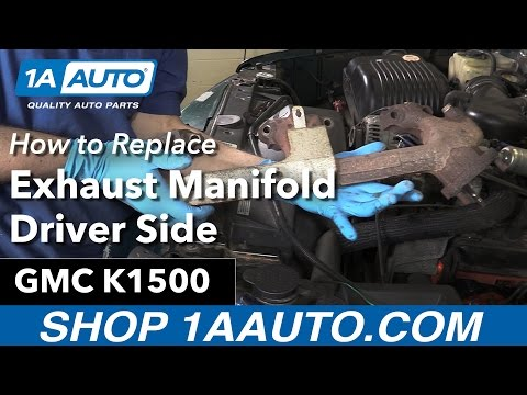 How to Replace Drivers Exhaust Exhaust Manifold 96-99 GMC K1500