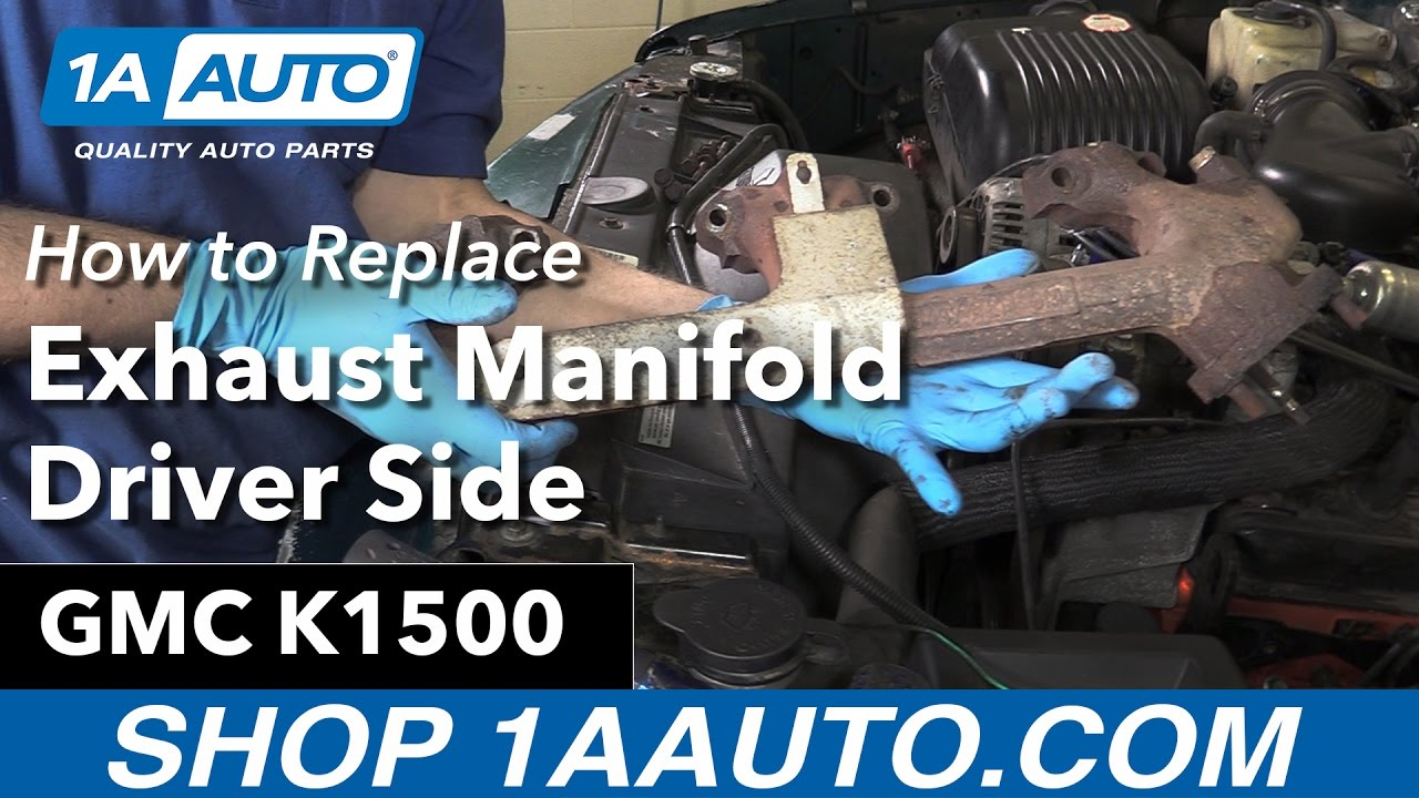 How To Replace Drivers Exhaust Manifold 96 99 Gmc K1500 1996 Chevy Diagram Wiring Schematic