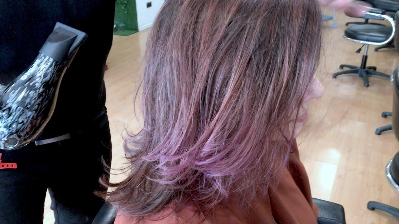 Balayage en pelo corto morado