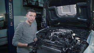 Mercedes C63s W205 Гибридные турбины vs Audi RS7, компоновка двигател