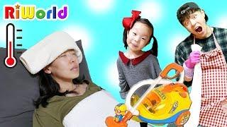 엄마가 아파요! 청소놀이 장난감 세트 Cleaning Trolley Toy Set
