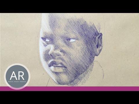Gesichter zeichnen lernen. Kreative Techniken. Mappenkurs Illustration.