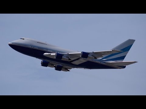 Las Vegas Sands Boeing 747-SP [VP-BLK] Departing LAX.