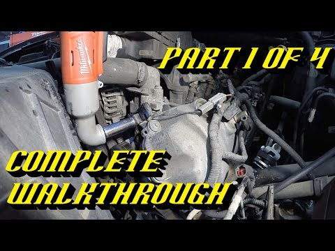 Ford 5.4L 3v Engine Timing Chain Kit Replacement Pt 1 of 4: Getting to the Engine