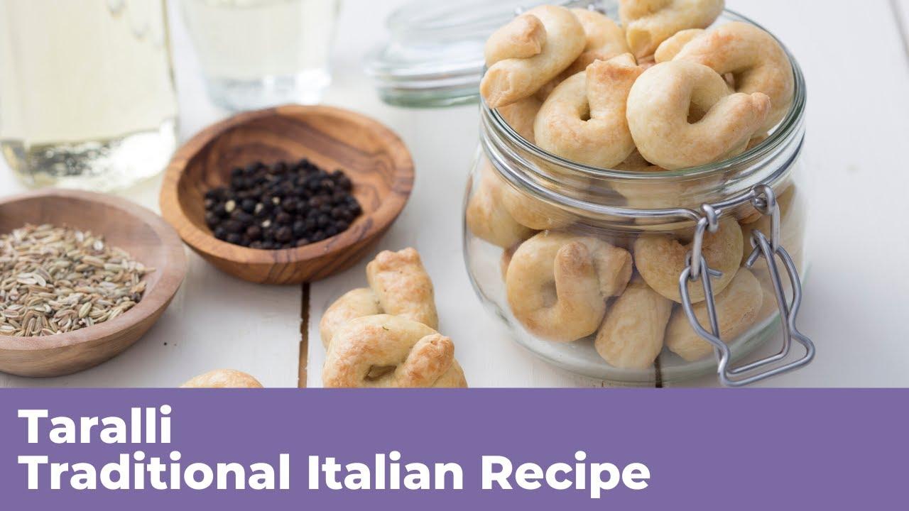 Ricetta In Italian To English.Taralli Traditional Italian Recipe Youtube