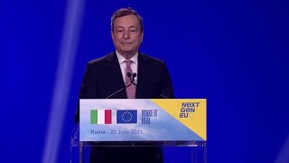 Pnrr, il premier Mario Draghi: