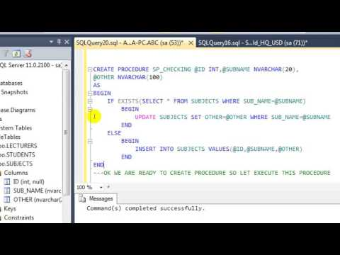 CHECKING IF EXISTS IN SQL SERVER - YouTube