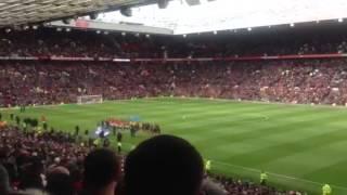 """""""Arsenal away fans at old Trafford singing """"she said no robin"""""""