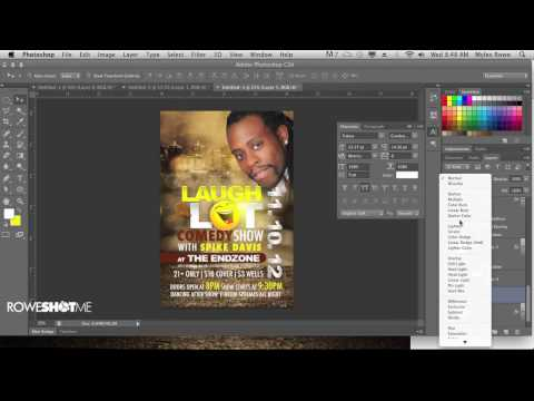 WATCH ME DESIGN A COMEDY THEMED FLYER IN ADOBE PHOTOSHOP