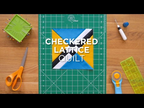 Quilt Snips Mini Tutorial - Checkered Lattice - YouTube : missouri quilt company pillowcase tutorial - Adamdwight.com