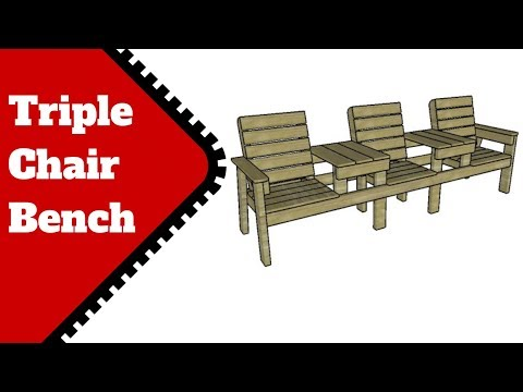 Triple Chair Bench With Tables Plans