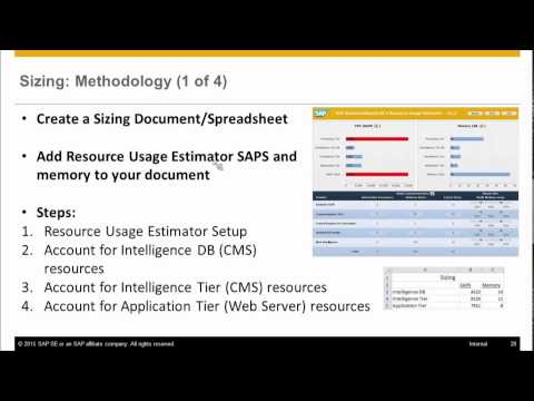 SAP BusinessObjects BI 4.1: How to Size the BI Platform - Tools and Best Practices