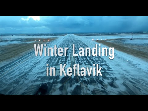 Winter landing in Keflavik Iceland