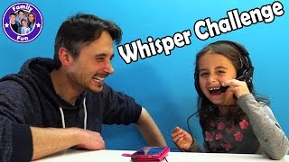WHISPER CHALLENGE - FAMILY FUN - Miley gegen Papa