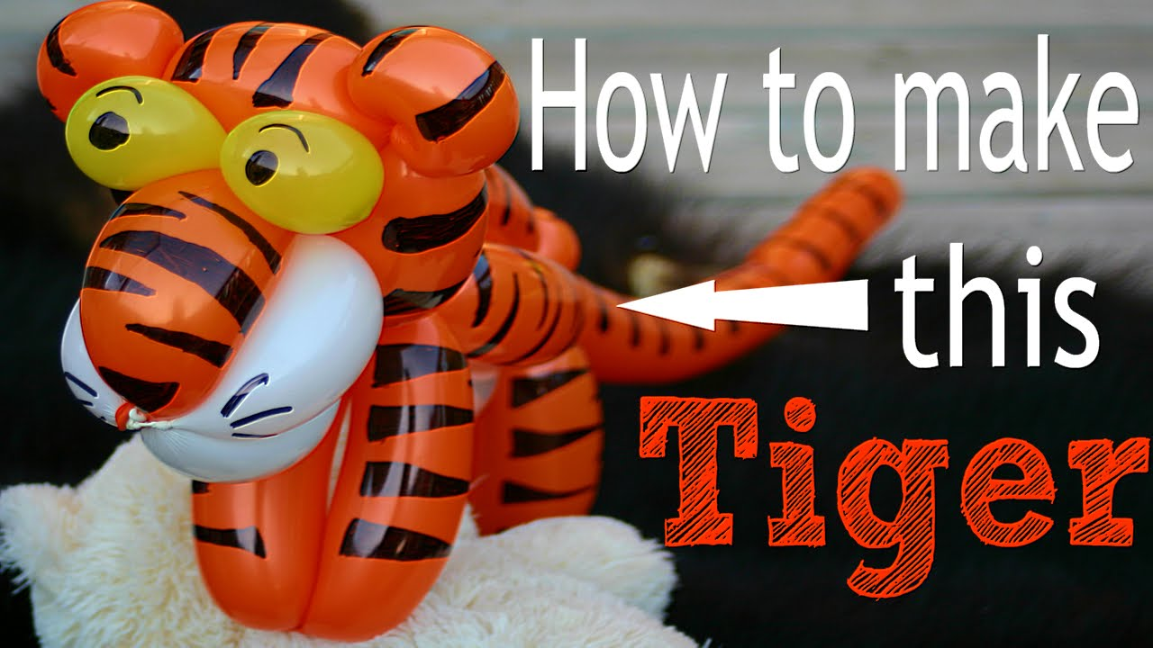 How to make a fancy balloon tiger