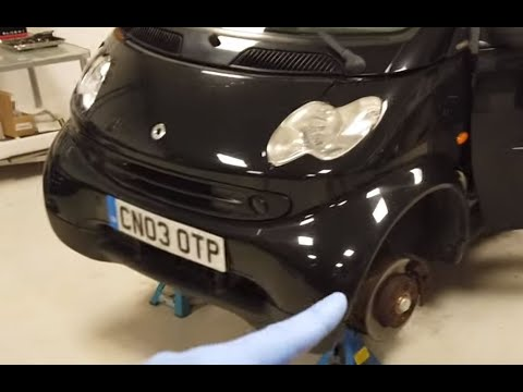 Smart Car ForTwo W450 Front Bumper Panel Removal ( How To Open Bonnet ! )