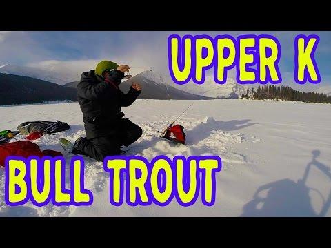 Upper Kananaskis Lake Ice Fishing