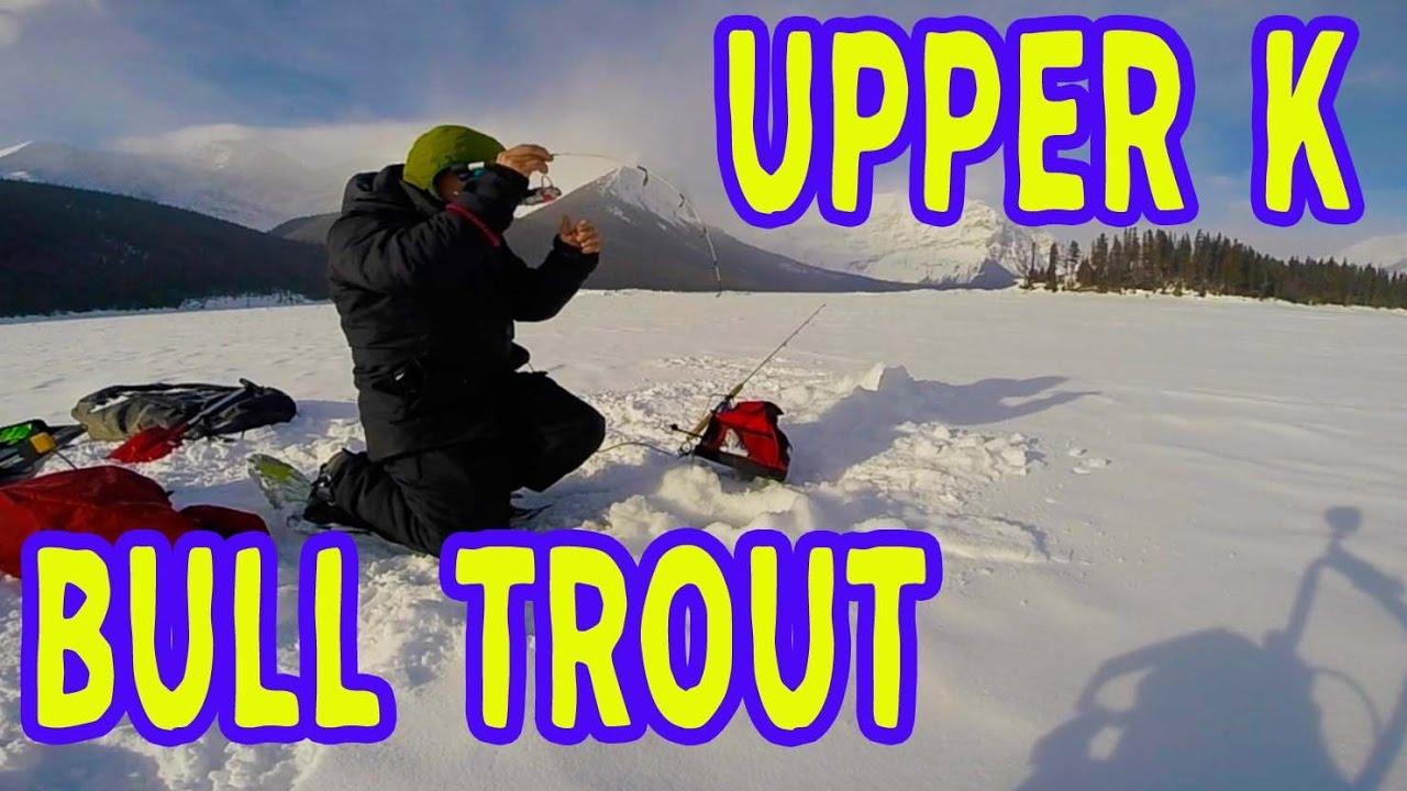 Upper kananaskis lake ice fishing youtube for Jrs upper red lake fishing report