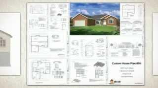 Autocad House Plans #96 1627 Sq Ft Rambler 3 Bdrm 2 Bath