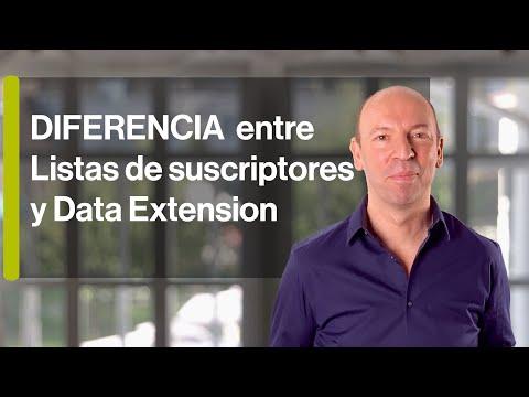 Diferencias entre Listas de suscriptores y Data Extension