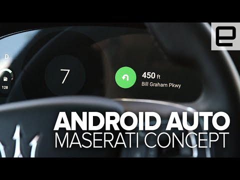 Inside the Maserati Android Auto Concept