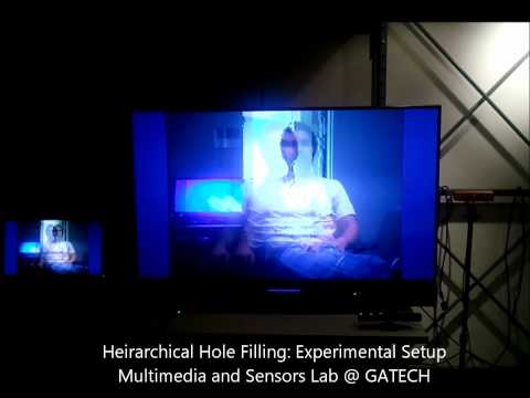 Lab Setup for Depth Image Based Rendering with  Hierarchical Hole Filling