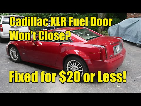 Cadillac XLR Fuel Door Won't Close, How To Fix For Nearly $0!