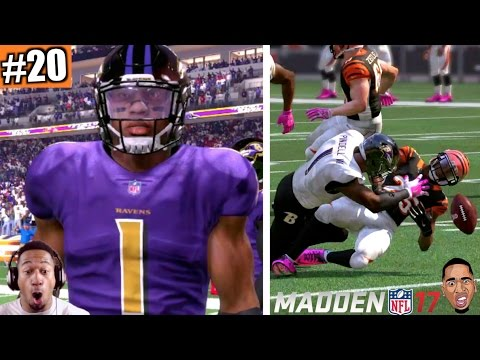 MADDEN 17 CAREER MODE GAMEPLAY: HUGE HIT STICK FUMBLE Ep.20