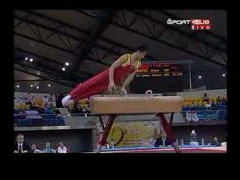Doha 08 F: Zhang Hongtao (CHN), Pommel, 2nd