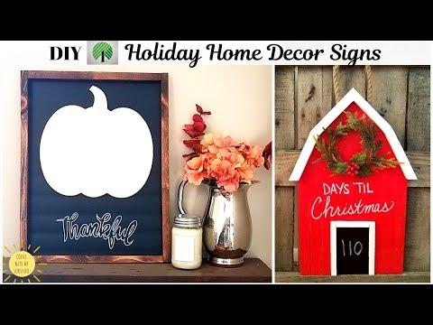 DIY FARMHOUSE HOLIDAY HOME DECOR SIGNS | DOLLAR TREE JOANN FABRICS | FALL CHRISTMAS | BARN | ARTEZA