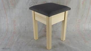 табурет с мягким сиденьем своими руками. Wooden stool diy