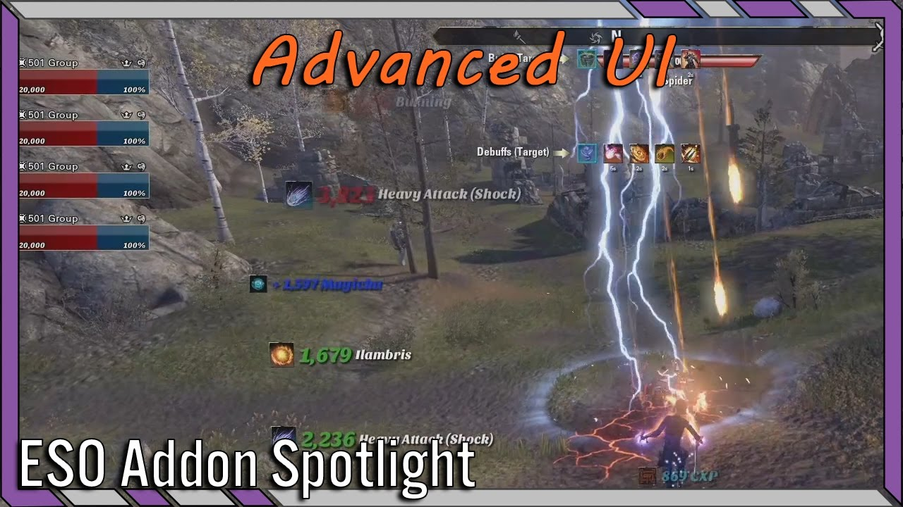 Advanced Ui Aui Eso Addon Spotlight Elder Scrolls