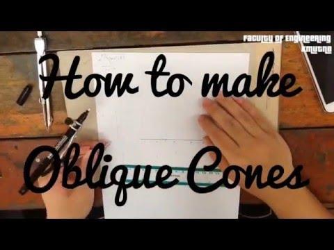 How To Draw Oblique Cones Doovi