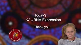 Tiyana says 'thank you' in Kaurna
