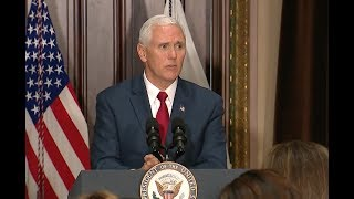 VP Pence At Crime Reduction Summit- Full Speech (Audio Only)