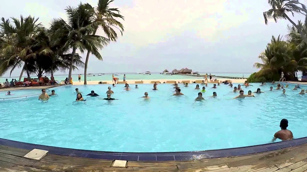 Pool Gym Exercise Club Med Kani Maldives Youtube
