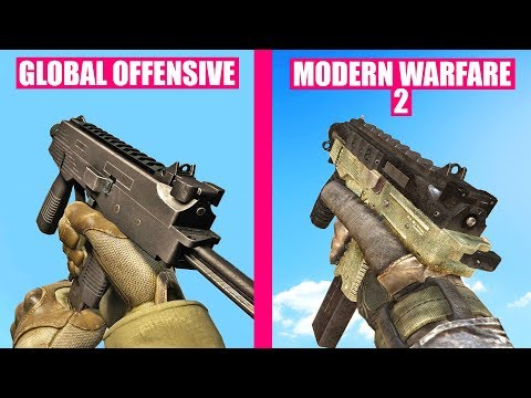 Counter-Strike Global Offensive Gun Sounds vs Call of Duty Modern Warfare 2