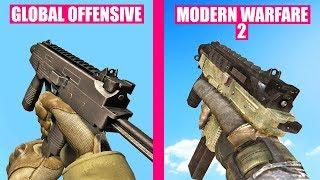 Counter-Strike Global Offensive Gun Sounds vs Call of Duty Modern Warfare 2