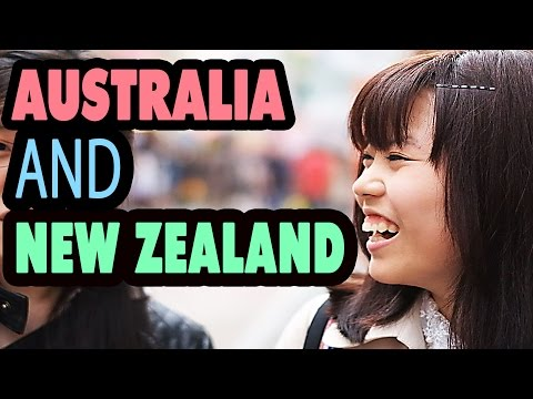 Ask Japanese about Australia and New zealand